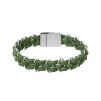 Armband Impulse, grün, versilbert