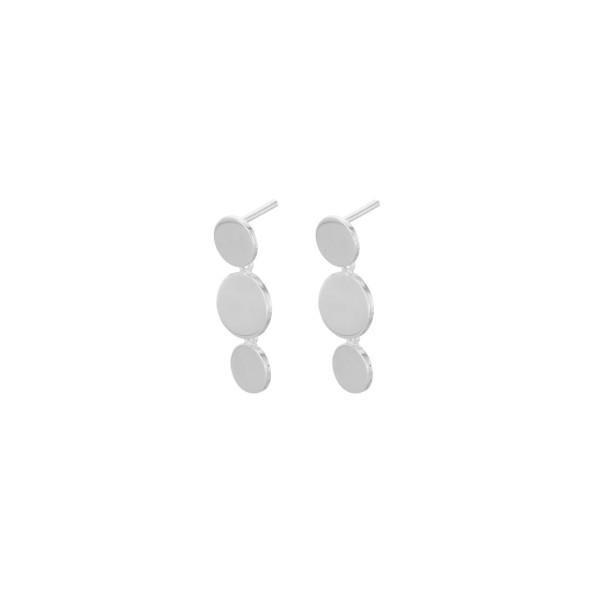 Ohrstecker Triple Sheen, Silber