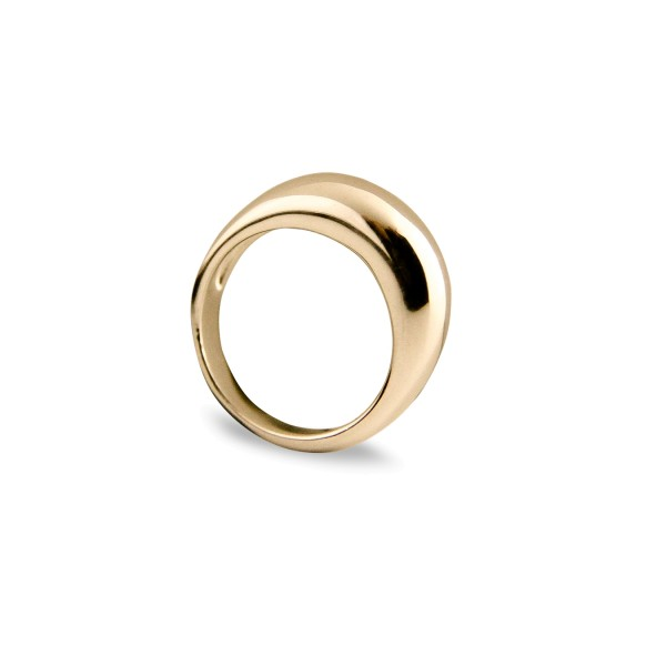 Jeberg Jewellery Ring Dome, vergoldet