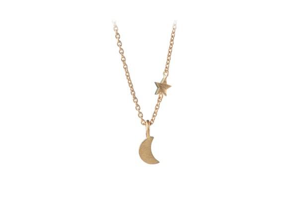 Pernille Corydon Kette Luna Star, vergoldet