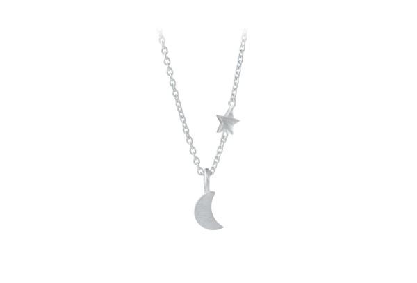 Pernille Corydon Kette Luna Star, Silber