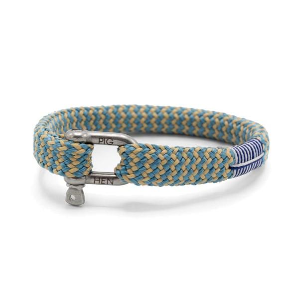 Herren-Armband Sharp Simon, sky blue/sand