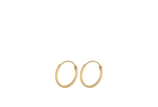 Pernille Corydon Creolen Tiny Plain Hoops, vergoldet