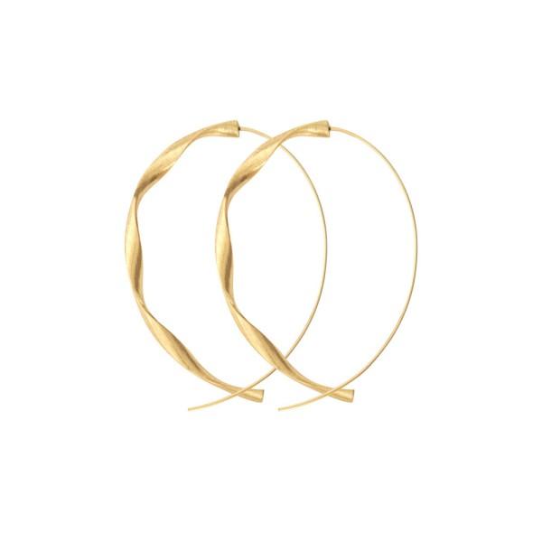 Ohrringe Tara Twirl, vergoldet