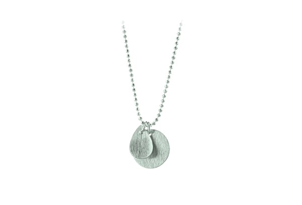 Kette Coin and Drop, Silber
