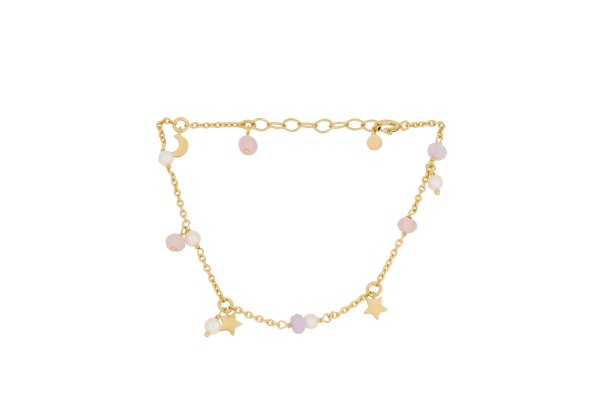 Armband Pastel Dream, vergoldet