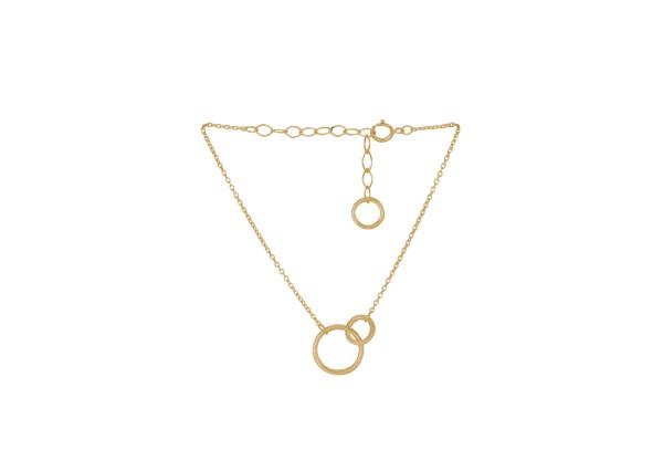 Pernille Corydon Armband Double, vergoldet