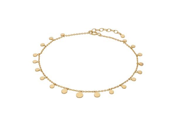 Pernille Corydon Fußkette Sheen, vergoldet