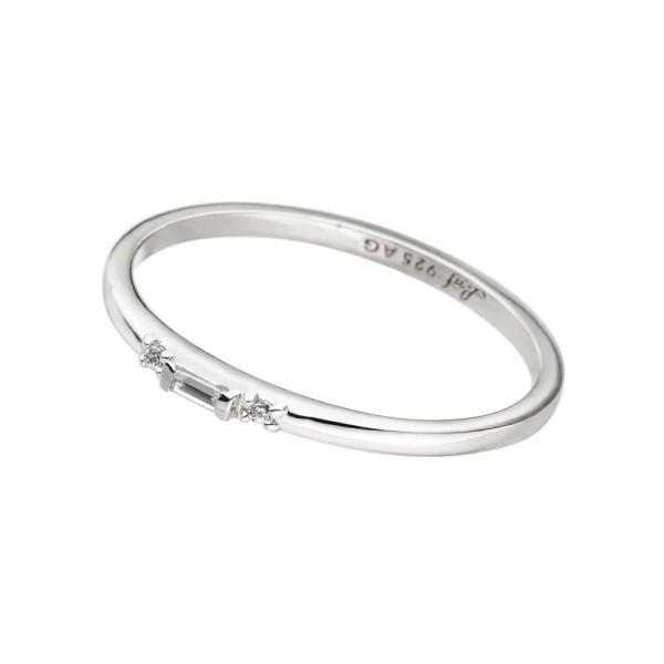 Leaf Ring Sparkle small, Silber rhodiniert
