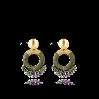 LOTT.gioielli Ohrringe Elara Drop Combi, grün, S, vergoldet