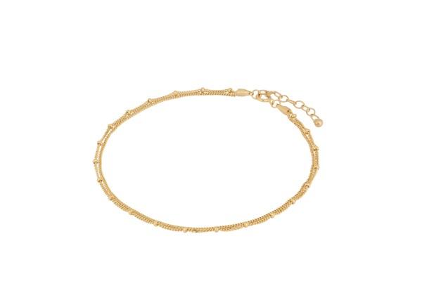 Pernille Corydon Fußkette Galaxy, vergoldet