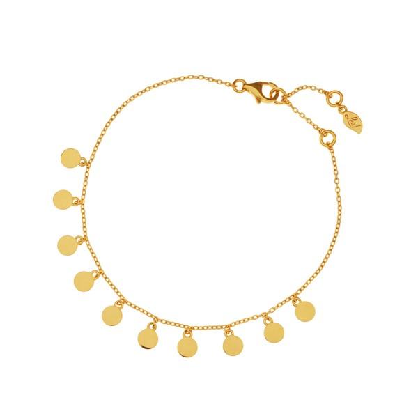 Armband Platelet, vergoldet