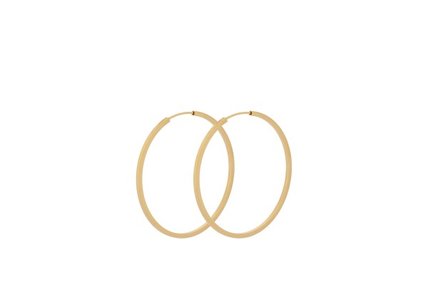 Ohrringe Creole Small Orbit, vergoldet