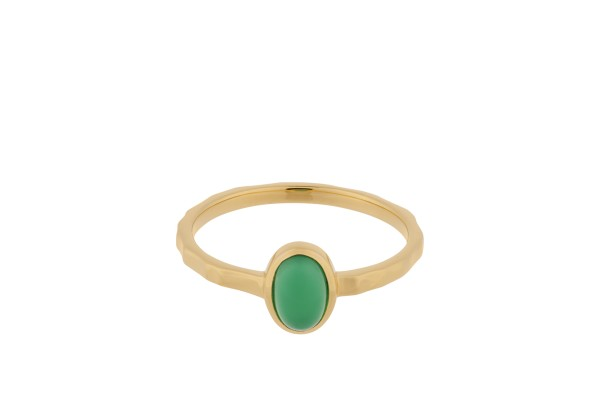 Ring Shine Green, vergoldet