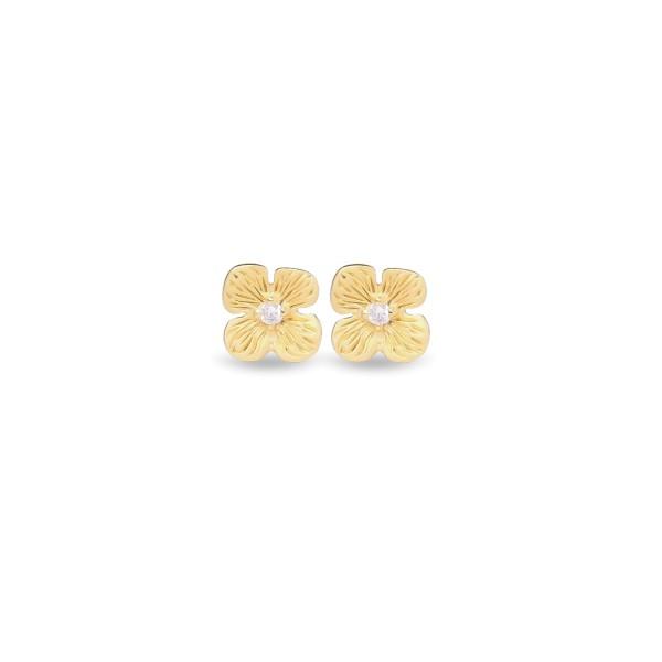 Jeberg Jewellery Ohrstecker Hortensia, vergoldet