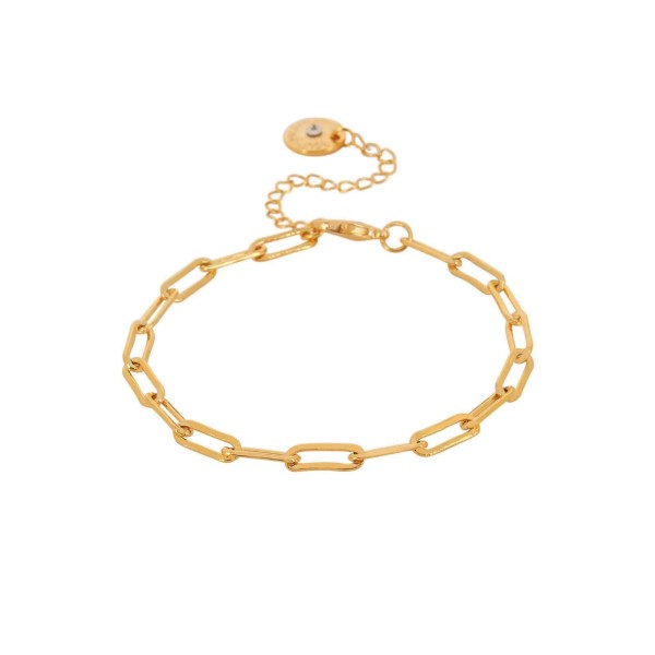 Armband Ripple Chain, vergoldet