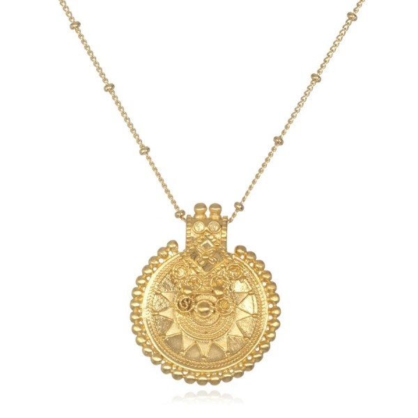 Satya Kette Gold Mandala, vergoldet