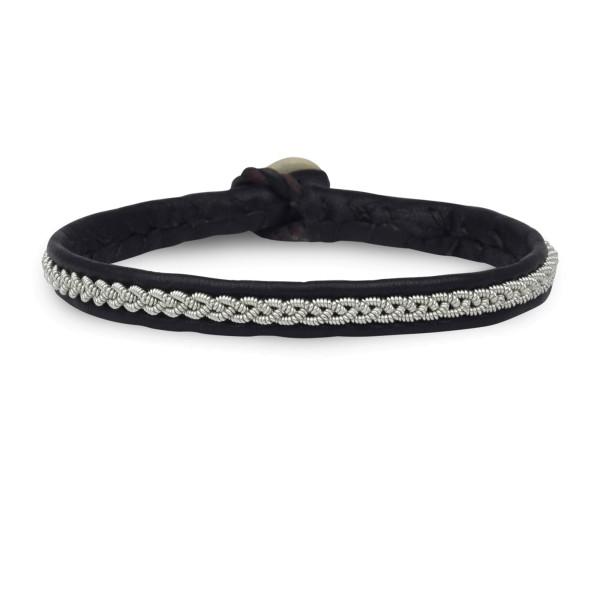 Armband AZ001, Zinnfaden Pur