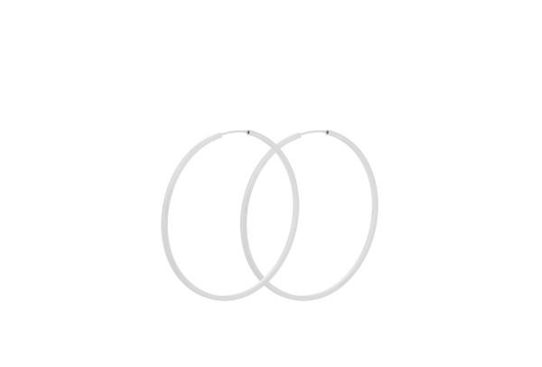 Pernille Corydon Ohrringe Creole Orbit, Silber