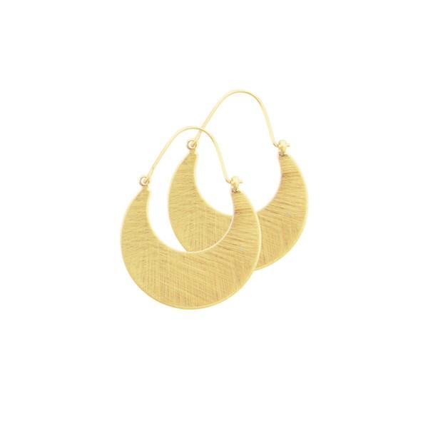 Ohrringe Tara Plate Hope, vergoldet