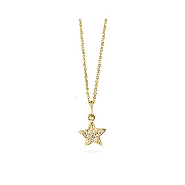 Kette Mini Star Pavé, vergoldet