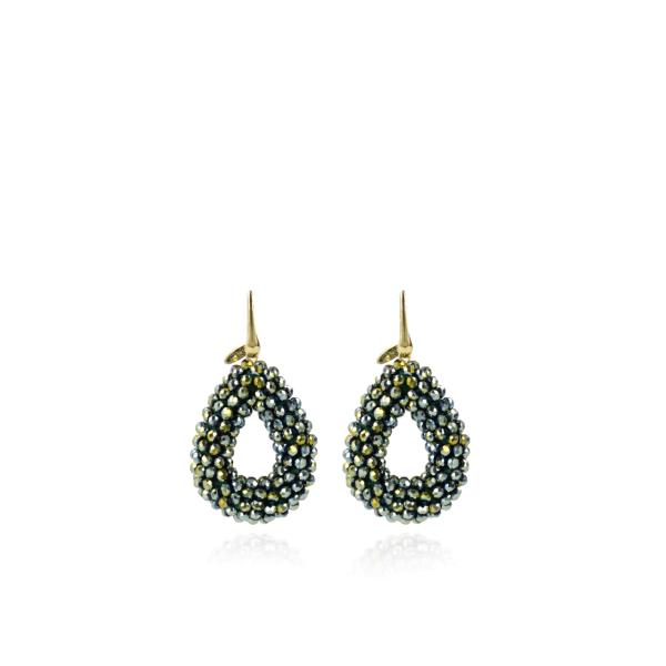 LOTT.gioielli Ohrringe Berry Drop, grün, S, vergoldet