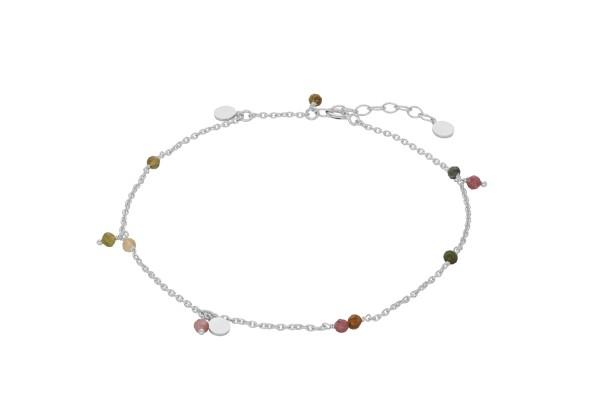 Pernille Corydon Fußkette Afterglow Pastel, Silber
