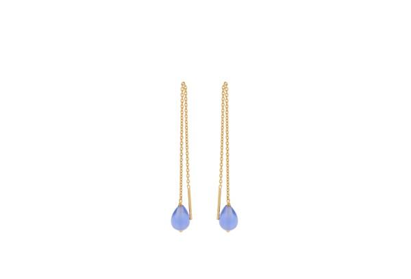 Pernille Corydon Ohrringe Aqua Blue, vergoldet