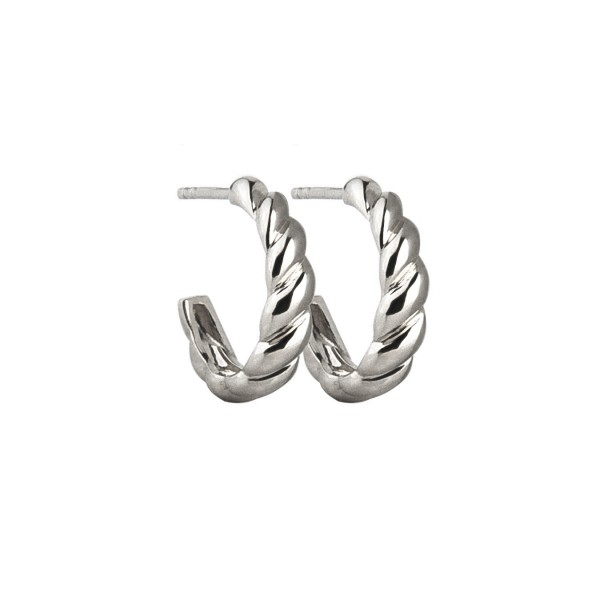 Creolen Twisted, Silber