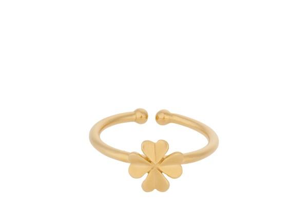 Pernille Corydon Ring Clover, vergoldet
