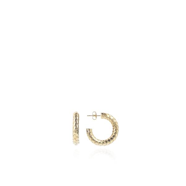 Ohrringe Kobra-Creole, S, vergoldet