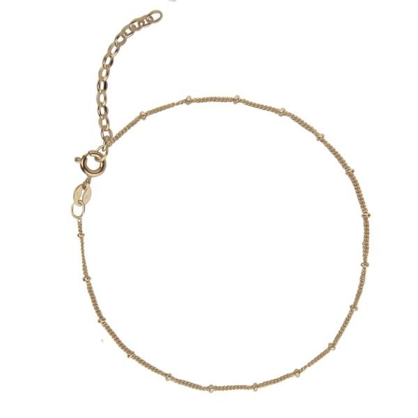 Jeberg Jewellery Fußkette Nelly, vergoldet