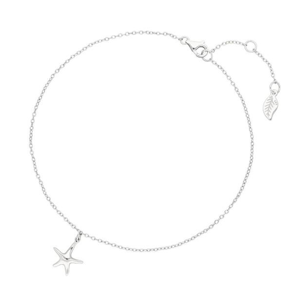 Leaf Fußkette Starfish, Silber