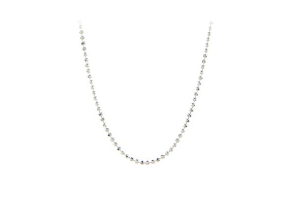 Pernille Corydon Kette Facet Plain, Silber