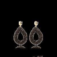 LOTT.gioielli Ohrringe Berry Drop, braun, L, vergoldet