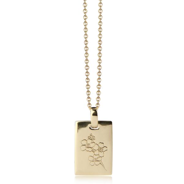 Jeberg Jewellery Kette Forget me not, vergoldet