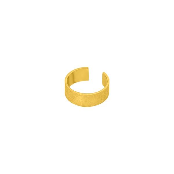 Earcuff matt 4 mm breit, vergoldet