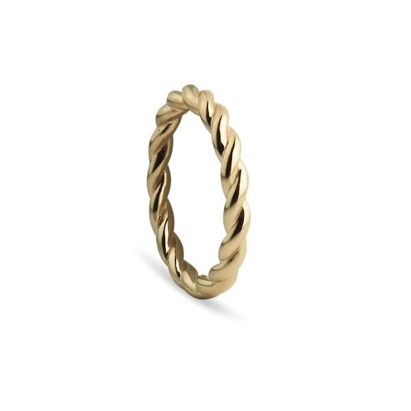 Ring Twisted, vergoldet