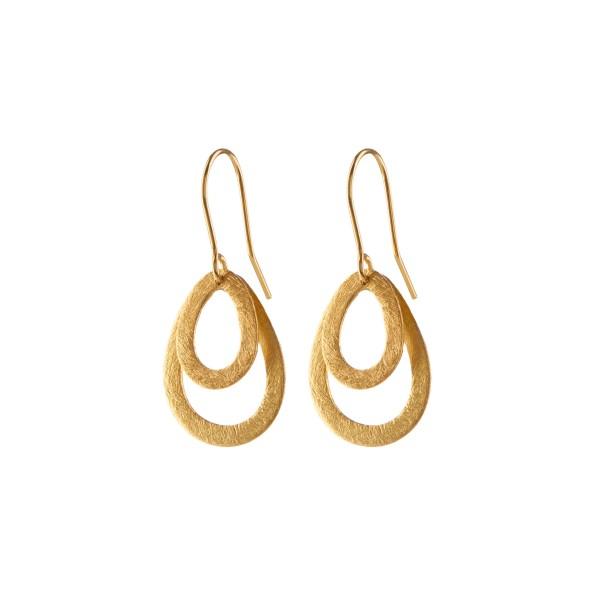 Pernille Corydon Ohrringe Mini Double Drops, vergoldet