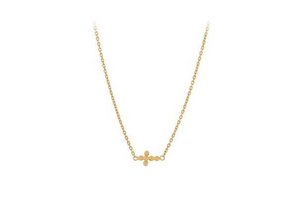 Kette Cross, vergoldet