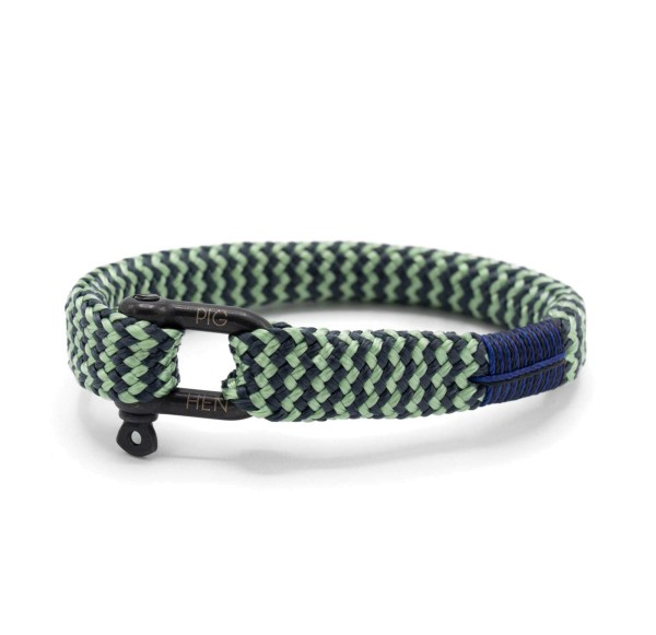 Herren-Armband Sharp Simon, mint/gray