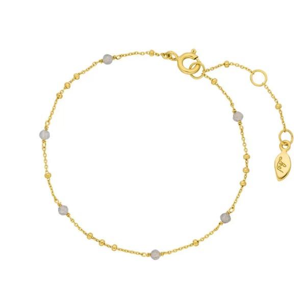 Leaf Armband Flying Gems, Labradorit, vergoldet