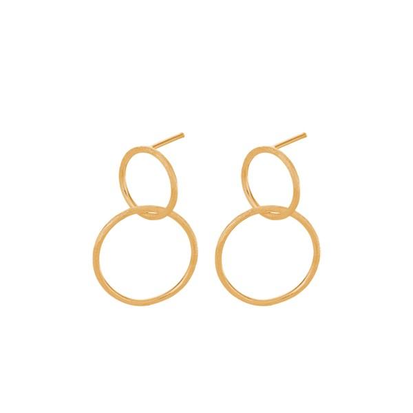 Ohrringe Double, vergoldet