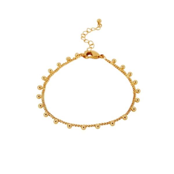 Armband Indian Flat, vergoldet