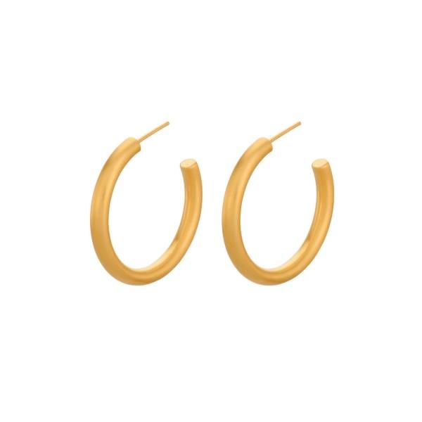 Ohrringe Beta Creole, vergoldet