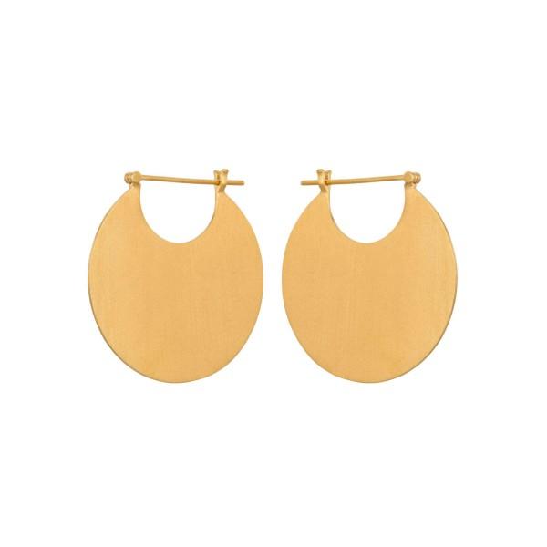 Ohrringe Omega, vergoldet