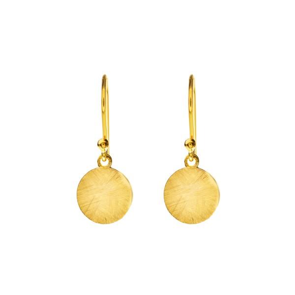 Ohrringe Plättchen klein, vergoldet