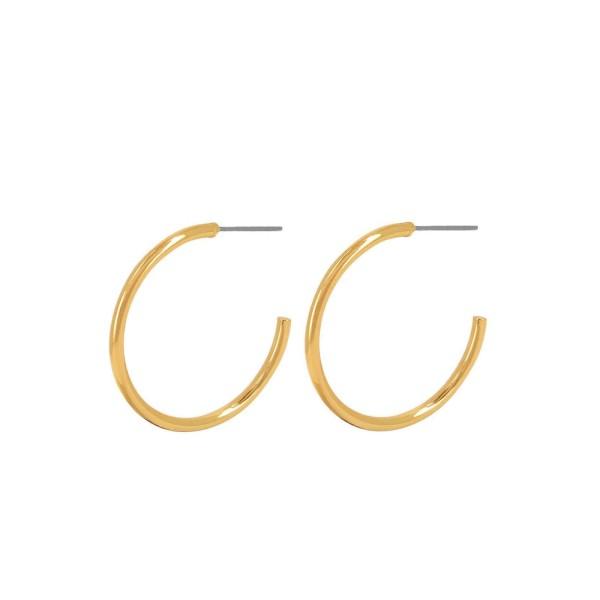 Dansk Ohrringe Infinity Big Hoop, vergoldet