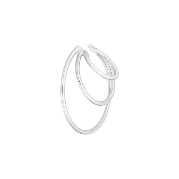 Leaf Earcuff Triple Ring, Silber