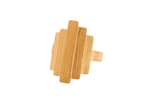 Pernille Corydon Ring Brick, vergoldet